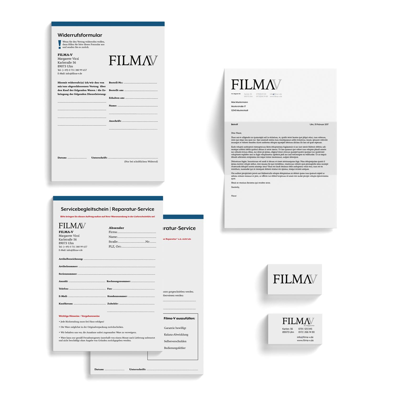 Geschäftsausstattung FILMA-V